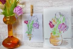 курс по скетчинга в Арт-нуво рисуем с натуры цветы